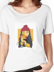 Peek-A-Boo Leaf Women's Relaxed Fit T-Shirt