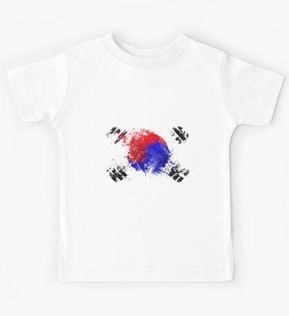 korean flag brush Kids Tee