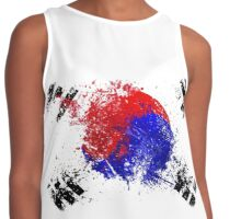 korean flag brush Contrast Tank