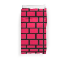 Red Brick Wall Pattern Duvet Cover