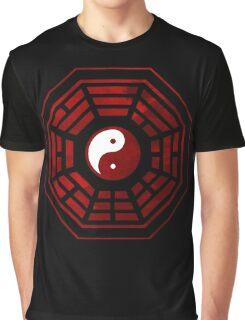 Yin Yang Red Pangua Graphic T-Shirt