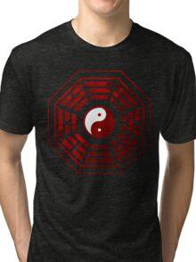 Yin Yang Red Pangua Tri-blend T-Shirt