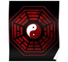 Yin Yang Red Pangua Poster