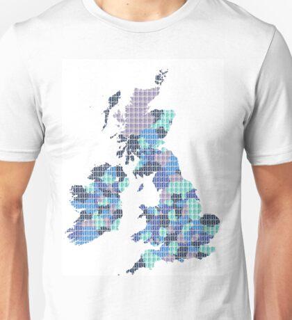 UK and Ireland map - Blue Unisex T-Shirt