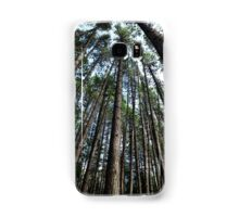 Tall pine trees in a forest art photo print Samsung Galaxy Case/Skin