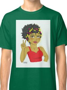 Peace And Love Dark Skinned Beauty Classic T-Shirt