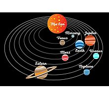 Solar System for Kids Photographic Print