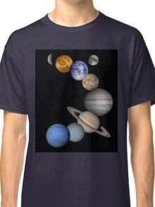 The Solar System, Aligned Planets (Photographs) Classic T-Shirt