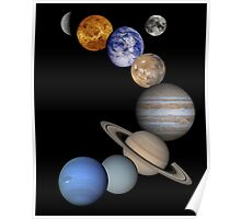 The Solar System, Aligned Planets (Photographs) Poster