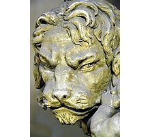 Lion head sculpture, Barrage Vauban, Strabsourg, France Photographic Print