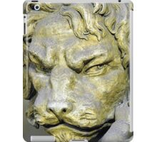 Lion head sculpture, Barrage Vauban, Strabsourg, France iPad Case/Skin