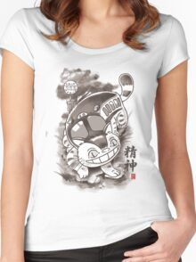 Traditional Nekobasu Variant Women's Fitted Scoop T-Shirt
