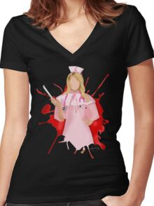 Chanel Oberlin - Scream Queens Women's Fitted V-Neck T-Shirt