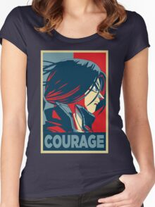 Courage! Trunks Women's Fitted Scoop T-Shirt