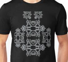 White opal on black Unisex T-Shirt