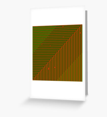 Psychedelic optical shoegaze lines - Autumn Greeting Card