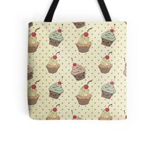 Vintage,retro,cup cake,pattern,shabby chic,food hipster,hipster,food,cute Tote Bag
