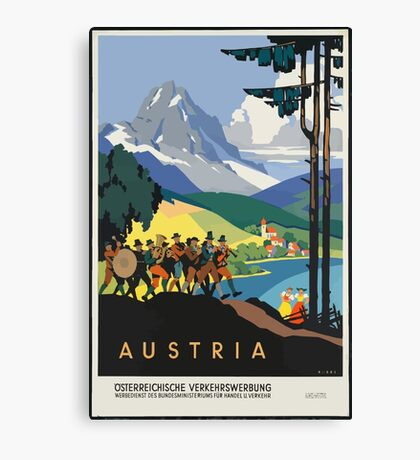 Vintage Travel Poster, Austria Canvas Print