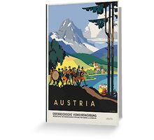 Vintage Travel Poster, Austria Greeting Card