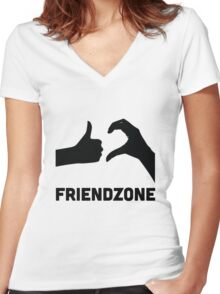 Friendzoned Women's Fitted V-Neck T-Shirt