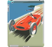 Vintage Travel Poster, French Riviera Race Car iPad Case/Skin