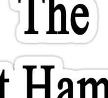 My Wife Is The Best Hamster Doctor  Sticker