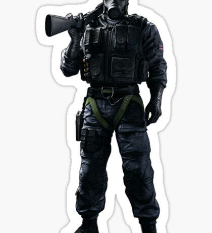 Smoke Rainbow 6 Siege - full Sticker