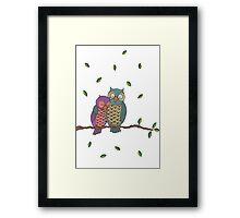 Blue Owls Framed Print