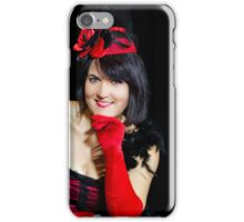 Christel Kern singing chanson. Portrait of french actress. Expressive concert repetition, Strasbourg, France. iPhone Case/Skin