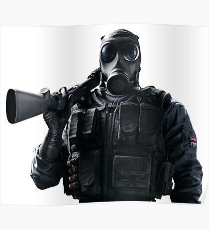 Smoke Rainbow 6 Siege - portrait Poster