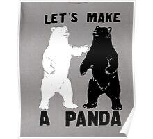 DeBran Shirts: Let's Make A Panda T-Shirt Poster