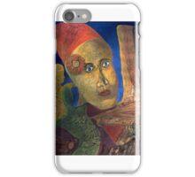 Frau mit rotem Dutt iPhone Case/Skin