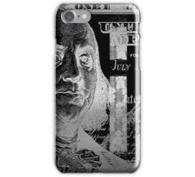 One Hundred US Dollar Bill - $100 USD in Silver on Black iPhone Case/Skin