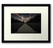 A country road at 3am Framed Print