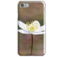 Single Wood Anemone in a Square Format iPhone Case/Skin