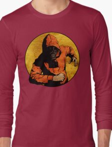 He Dodged Here And There.... Long Sleeve T-Shirt