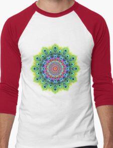 Peacock Mandala Men's Baseball ¾ T-Shirt