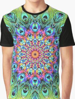 Peacock Mandala Graphic T-Shirt
