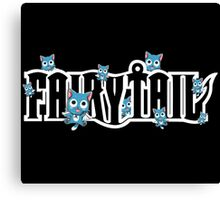 Many Happy Logo - Cute Fairy Tail Anime Canvas Print