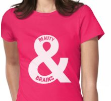 Beauty and Brains Womens Fitted T-Shirt