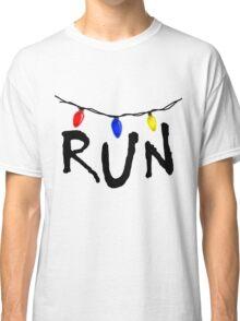 STRANGER THINGS - CHRISTMAS LIGHTS - RUN! Classic T-Shirt