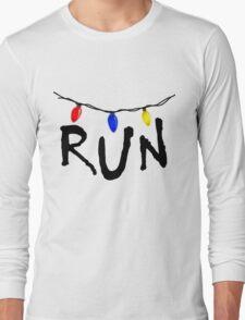 STRANGER THINGS - CHRISTMAS LIGHTS - RUN! Long Sleeve T-Shirt