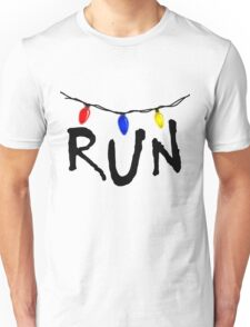 STRANGER THINGS - CHRISTMAS LIGHTS - RUN! Unisex T-Shirt