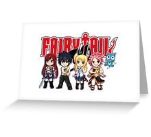 Fairy Tail Anime Group - Cute Character Greeting Card