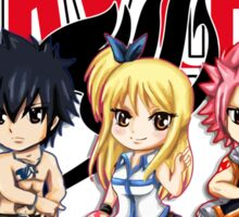 Fairy Tail Anime Group - Cute Character Sticker