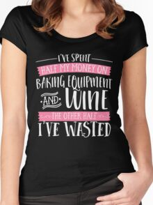 Baking & Wine  Women's Fitted Scoop T-Shirt