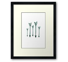 5 ARROWS Framed Print