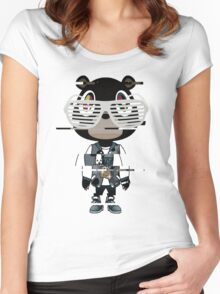 Kanye west graduation bear- Distorted Women's Fitted Scoop T-Shirt