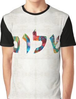 Shalom 20 - Jewish Hebrew Peace Letters Graphic T-Shirt