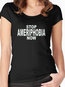 AMERIPHOBIA Women's Fitted Scoop T-Shirt
